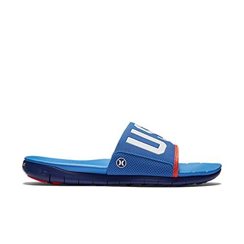 Hurley Mens Phantom Free (usa) Slide Sandaal Foto Blauw