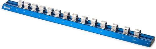Titan Tools 32098 1/2 Drive Metric Magnetic Aluminum Socket Rail by Titan Tools