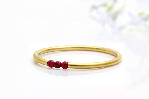 January birthstone bracelet,garnet bracelet,14k gold bracelet,bridal bracelet,gemstone bracelet,stone beads bangle