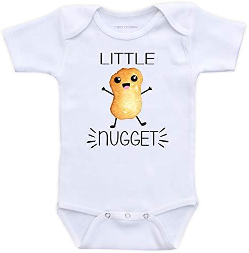 DoozyDesigns Little Nugget - Funny Unisex Baby Bodysuit (Newborn Short Sleeve Bodysuit)