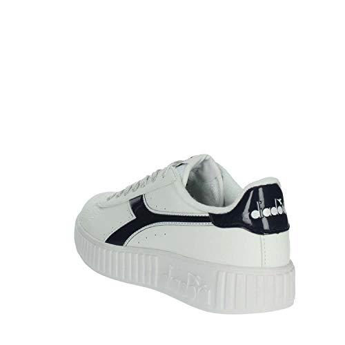 Diadora bleu Femme P Game Blanc Baskets Step gBgrq0