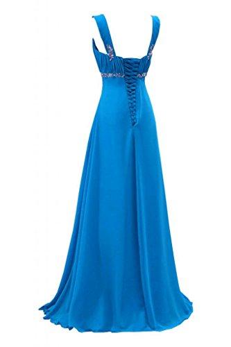 Sunvary Gorgeous Pageant blu lunghezza Empire abito satinato sera 38 da sera w1PxRnwq