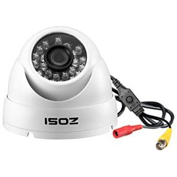 Quadbrid 4-in-1 HD-CVI//TVI//A... ZOSI 1.0MP HD 720p 1280TVL Dome Security Camera