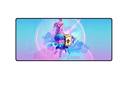 """Yvetel Fortnite Llama Extended Size Custom Professional Gaming Mouse Pad - Anti Slip Rubber Base - Stitched Edges - Large Desk Mat - 35.43"""" x 15.75"""" x 0.1"""" by Yvetel"""