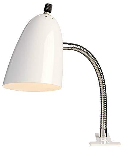 White Gooseneck Clip Light - Pro - Track Lighting Gooseneck