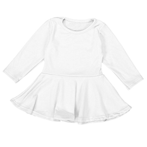 Baby Girl's Clothes, Mchoice Toddler Baby Girls Kids Clothes Long Sleeve Party Princess Ruffled Swing Dress (9~12 Months, (Ruffled White Pettiskirt)