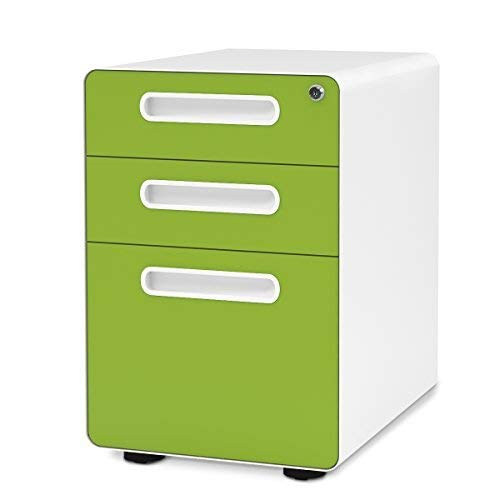 Devaise 3 Drawer Mobile File Cabinet With Anti Tilt