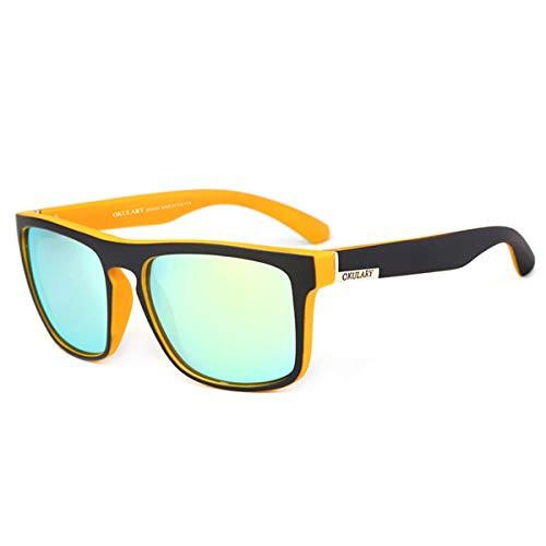Marca Gafas Reflectante H Recubrimiento Gafas Estuche de sin A Mujeres la de Conducción Deportivas KOMNY UV400 de Diseñador OKULARY polarizadas de Hombres Sol Gafas de wYqIqZ