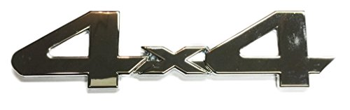 4 X 4 Tailgate (x1 New Chrome 4x4 Emblem / Decal / Badge Repalce OEM Toyota Tundra Rear Tailgate 75473-0C030, 754730C030)