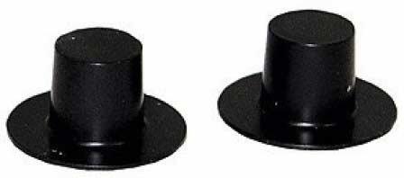 Top Hat Black Plastic 15mm