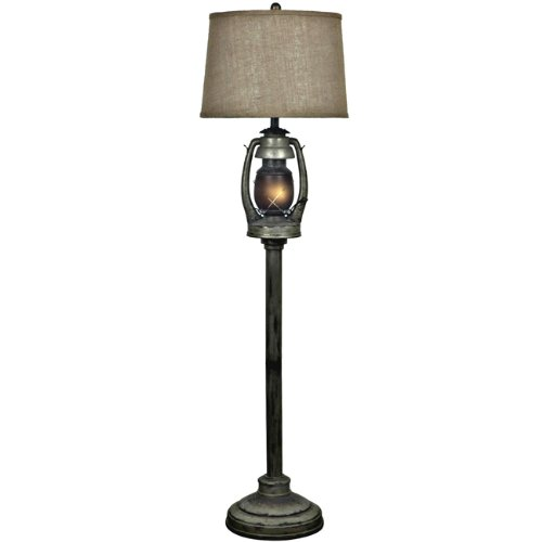 BLACK FOREST DECOR Oil Lantern Western Floor Lamp - Rustic Lighting