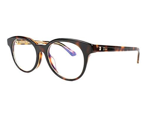 Optical frame Christian Dior Acetate Havana - Transparent Crystal (MONTAIGNE 5F (Christian Dior Optical Frames)