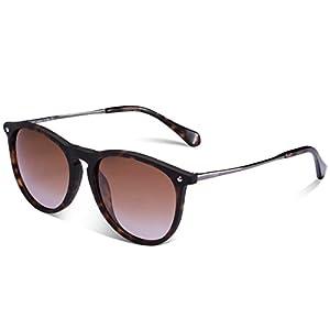 Carfia Vintage Women's Polarized Sunglasses with UV400 Protection