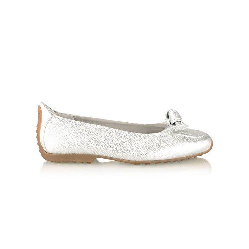 Kennel Und Schmenger Womens Bow Detail Slip On Flat Pump 5.5 Silver