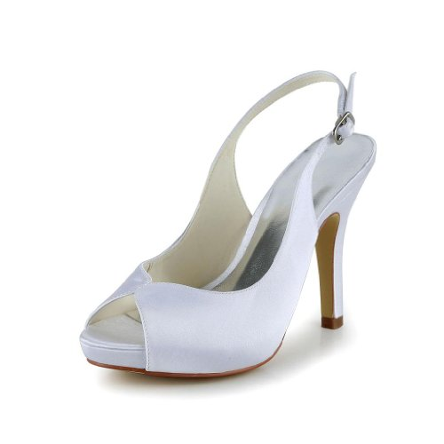 Donna scarpe JIA wedding sposa col tacco