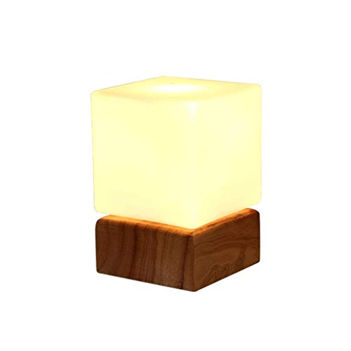 Creative Wooden Lamp Warm Bedroom Bedside Lamp Simple Living Room Study Children Eye Protection Led Table Lamp, BOSS LV