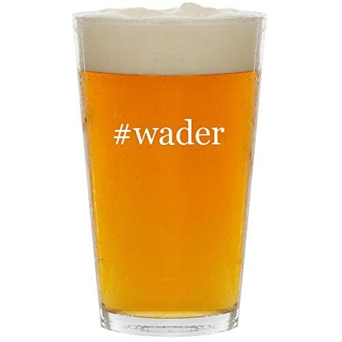 #wader - Glass Hashtag 16oz Beer Pint