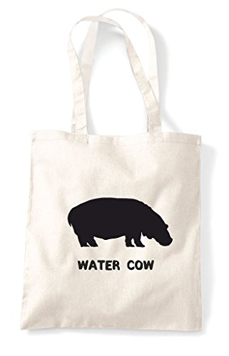 Shopper Themed Natural Alternative Bag Cow Water Names Tote Cute Funny Animal Hippo qPqv0