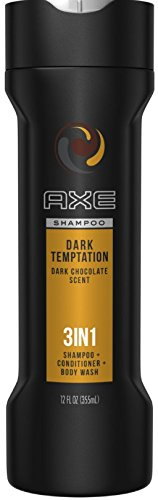 AXE 3-in-1 Shampoo & Conditioner, Dark Temptation 12 oz (pack of 2)
