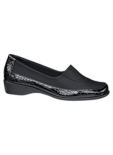 Carol Wright Gifts Angel Steps Croco Zeppa Nero