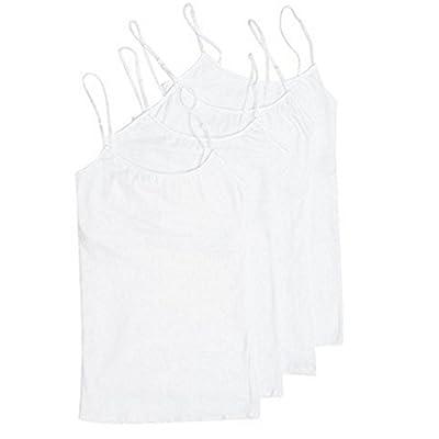 4 Pack Active Basic Women's Basic Tank Top (White 4 Pack)