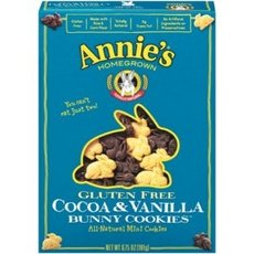 Annie's Gluten Free Cocoa & Vanilla Bunny Cookies 36x 6.75Oz by ANNIES HOMEGROWN