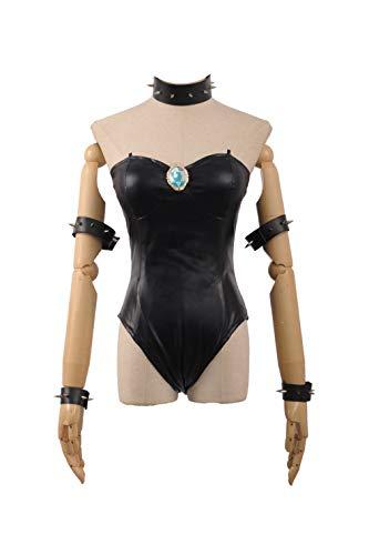 Game Bowsette Kuppa Koopa Hime Princess Jumpsuit Party Girls Dress (Small Female, Black) ()
