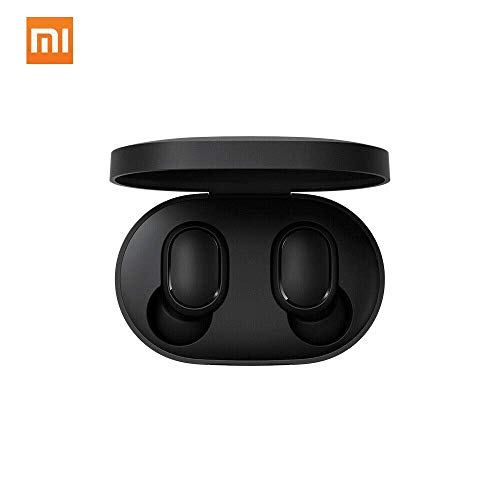 Xiaomi Redmi Airdots Earphones, Bluetooth, Sweatproof, True Wireless Earbuds, Global Version – Black