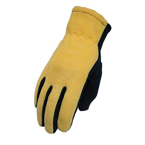 Tinffy Unisex Casual Patchwork Windproof Warm Wrist Full-Finger Gloves Cold Weather Gloves (Not Touch Screen)