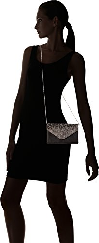 Jubileens nera Diamante Prom Evening Ladies Satin Pochette Ladies Bridal Large Party Busta wq6waZr