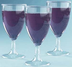 Plastic Wine Glasses 8oz 25 Count Box