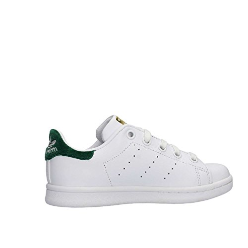 adidas Stan Smith C, Zapatillas de Deporte Unisex Niños Blanco (Ftwbla / Ftwbla / Veruni)