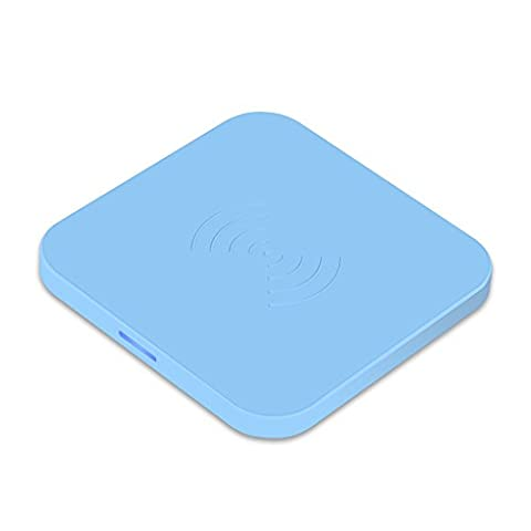 CHOETECH Qi Certified T511 Qi Wireless Charger with Anti-Slip Rubber for Qi-Enabled Devices - Blue