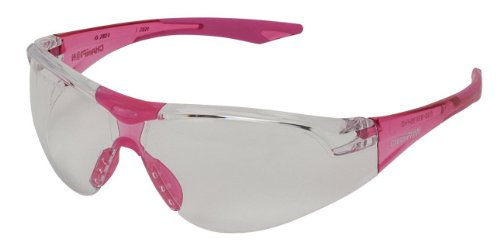 Champion Clear Shooting Glass with Pink Temples (Ballistic Grade)
