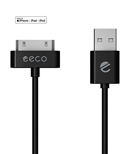 - eeco Apple MFi Certified 3ft iPhone 4/4s Charger Cable, Compatible with iPhone 3G/3GS, iPad 1/2/3, iPod Touch 1/2/3/4, iPod 5th Gen, iPod Classic, iPod Nano 1/2/3/4/5/6 (Black) 30-Pin-to-USB