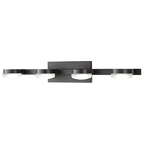 Home Decorators 22824 4-Light Oil Rubbed Bronze Integrated LED Vanity Light