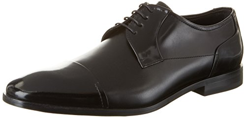 HUGO Square_derb_boct 10197223 01, Derby Uomo, Nero (Black), EU