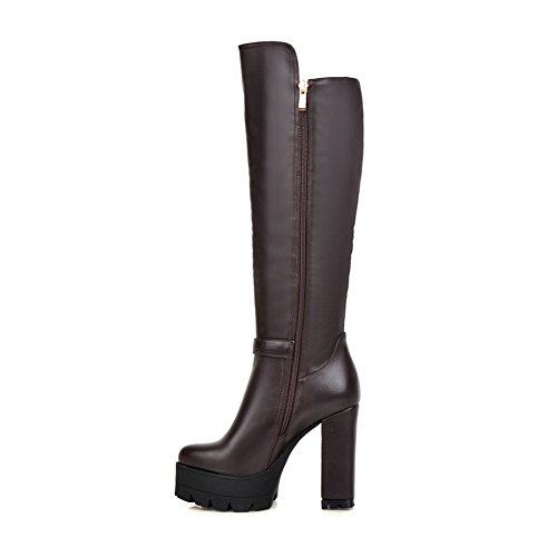 1TO9Mns02037 - Sandali con Zeppa Donna, Marrone (Brown), 35