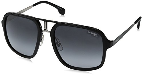 (Carrera Men's Ca1004s Aviator Sunglasses, MATTE BLACK RUTHENIUM/DARK GRAY GRADIENT, 57 mm)