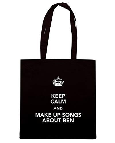 Shopper Borsa T SONGS BEN UP TKC2698 ABOUT Shirtshock AND CALM KEEP MAKE Nera xFxqfUw