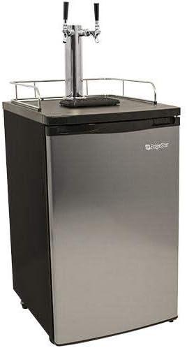 EdgeStar KC2000SSTWIN Full Size Stainless Steel Dual Tap Kegerator Draft Beer Dispenser – Stainless Steel