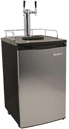 Full Size Stainless Steel Dual Tap Kegerator & Draft Beer Dispenser