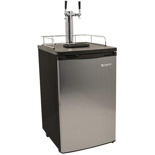 - EdgeStar KC2000SSTWIN Full Size Stainless Steel Dual Tap Kegerator & Draft Beer Dispenser - Stainless Steel