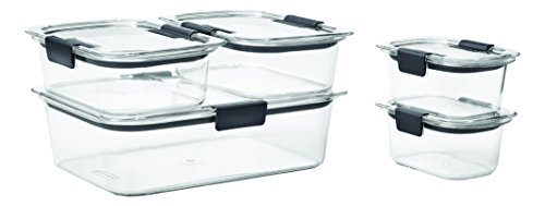 Rubbermaid Brilliance Food Storage Container 10-Piece Set