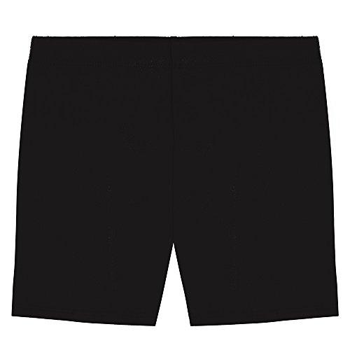 Popular Big Girl's Cotton Bike Shorts - Black - 7/8