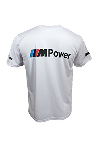 BMW M Power M3 White Short Sleeve Cool T Shirt Auto Car Graphics Tee DTM
