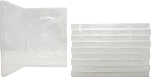 10 STANDARD SUPER Clear Single DVD Cases - Amaray Single Dvd Case