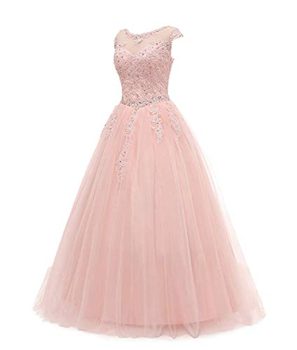 Juniors Wedding Party Dresses Red Carpet Banquet Dresses for Women Evening Blush Pink,Size 16