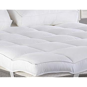 King Mattress Topper, Plush Pillow Top Mattress Pad/Bed Topper, Hotel Quality Down Alternative, 3