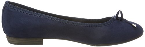 Marco Tozzi Damen 22135 Geschlossene Ballerinas Blau (Navy)